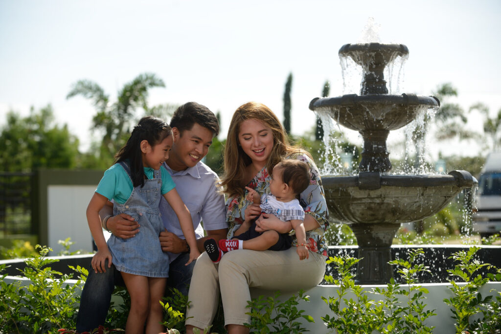 A happy family living in Pampanga