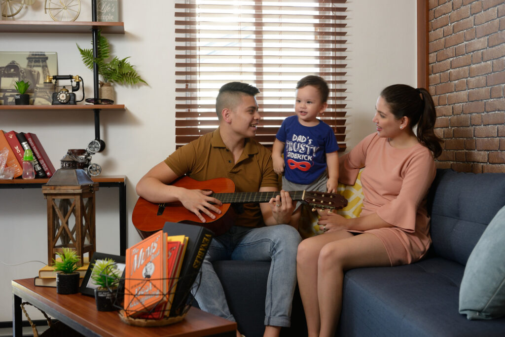 A happy family in their Batangas house