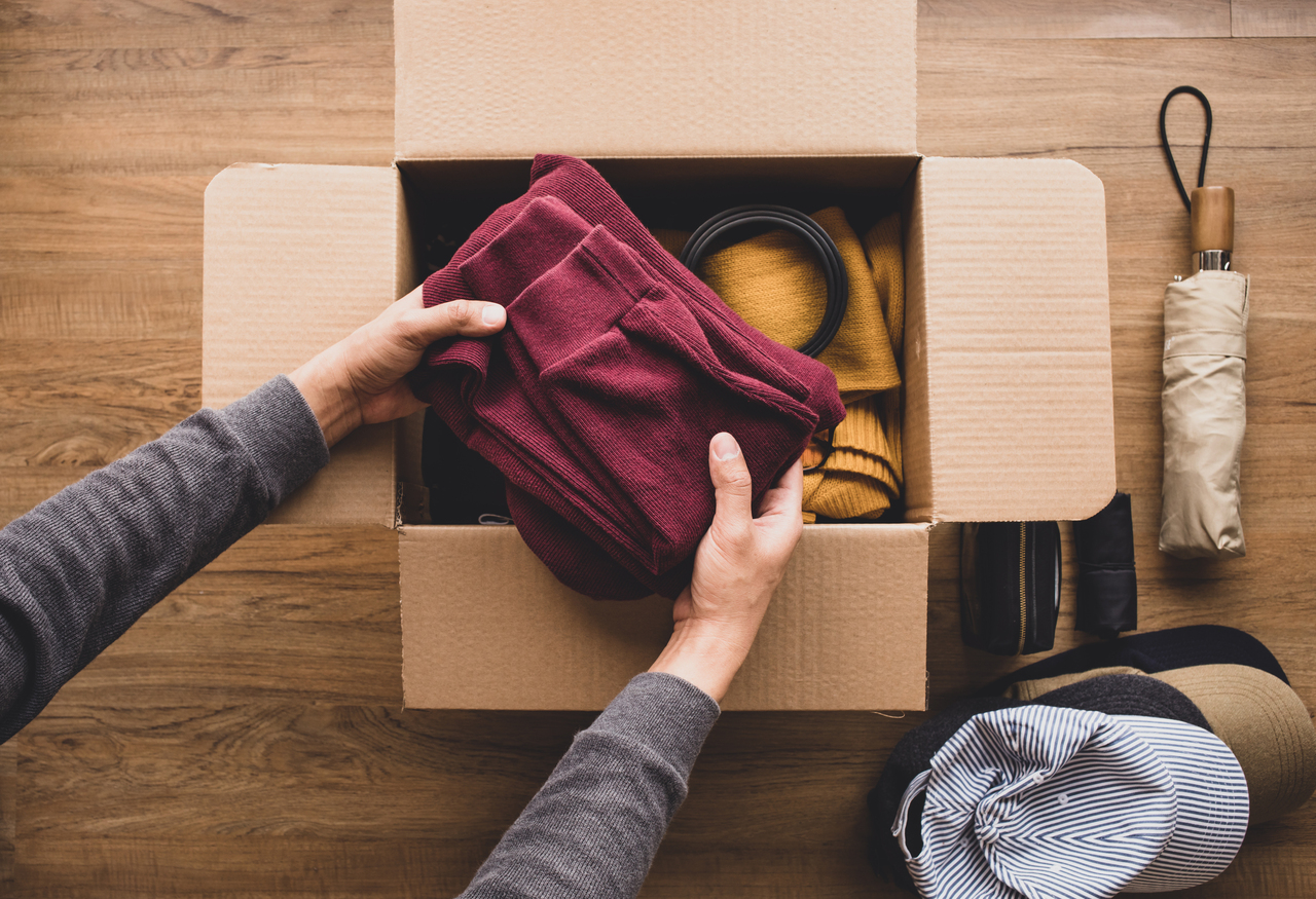 A person decluttering their home