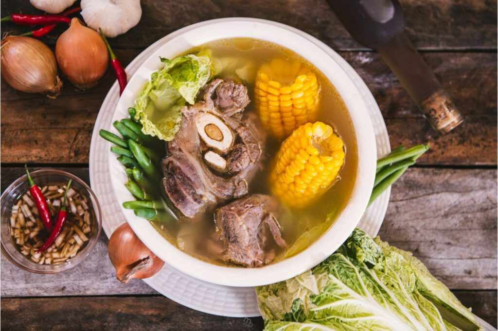 Bulalo on top of a table