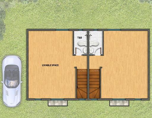 Park Place Cebu Twinhome Floor Plan Second