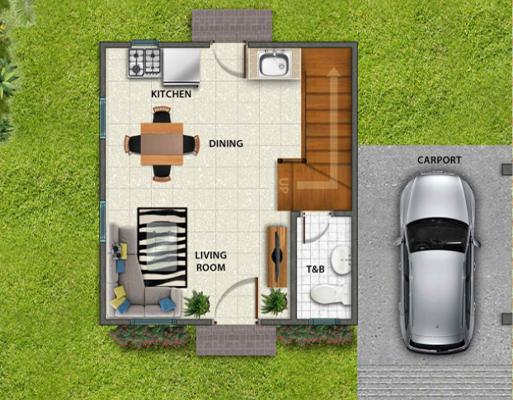 Park Place Pampanga Contemporary Twin Home Floor Plan Ground