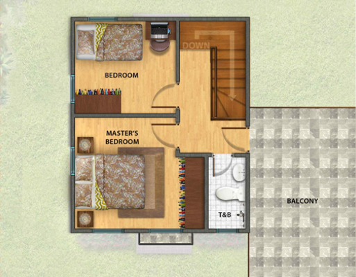 Park Place Pampanga Contemporary Twin Home Floor Plan Second