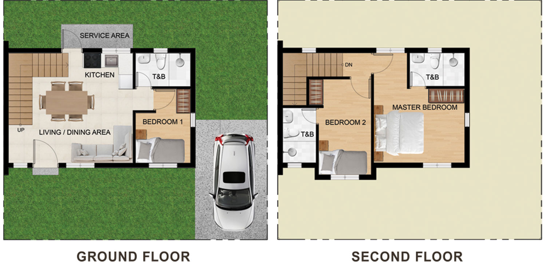 New Horizon Residences Single Attached Floor Plan 2