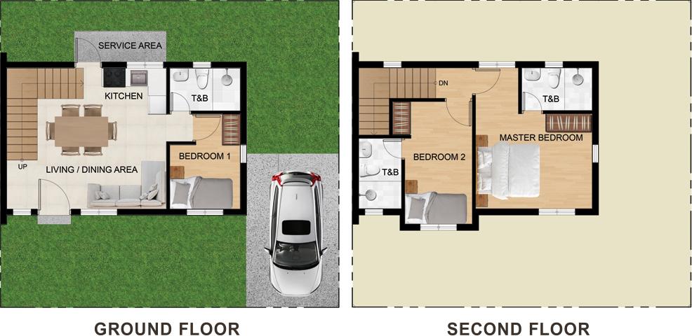 New Horizon Residences Single Attached Floor Plan